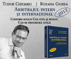 Tudor Chiuariu - Arbitraj Intern si International